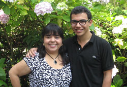 Marwin Turki with Patricia Vonscheidt, Young Learner coordinator
