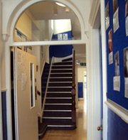Freshly painted corridor at LSI Cambridge