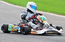 LSI student competing in East Anglia go-karting championship