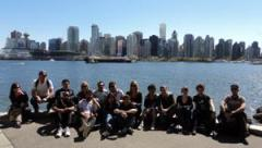 Vancouver students with Vancouver in background