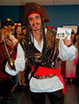 LSI student dressed as a pirate - winner of best overall costume
