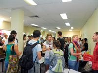 Students at the LSI Brisbane Flood Party