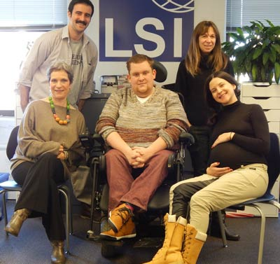 Dennis Bliek student with LSI New York staff