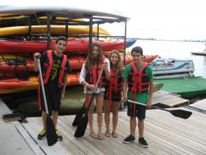 Canoeing on Lake Ontario