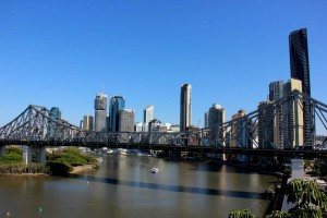 Brisbane River and City Skyline