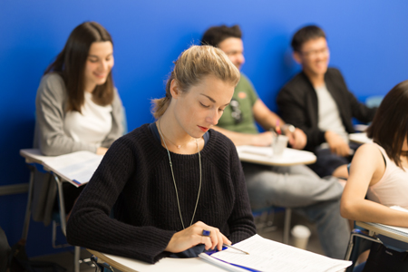 Students sitting Cambridge FCE exam