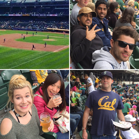 LSI Berkeley students at Baseball match