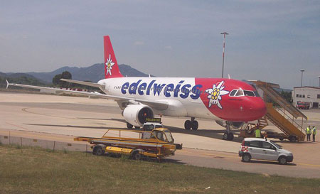 Edelweiss flights between Zurich and San Diego