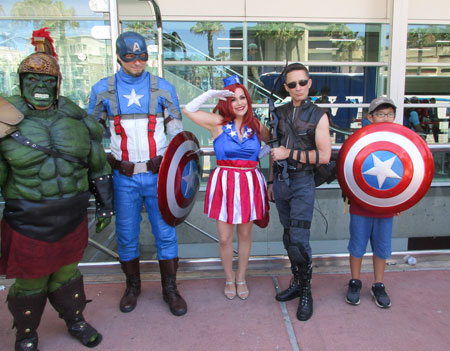LSI San Diego student meets the Avengers at Comic Con