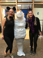 Halloween activities at LSI Berkeley including the Mummy dressing competition