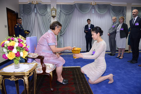 LSI Scholarship awarded to Princess Sirindhorn in a ceremony at the palace
