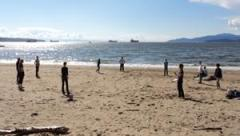 LSI Vancouver students on beach