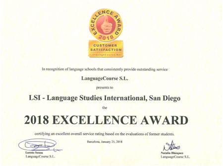 Excellence Award for LSI San Diego
